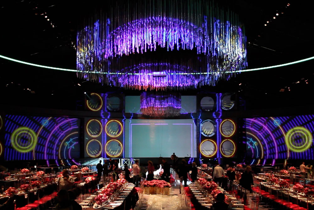 Charity Ball Stage Projection